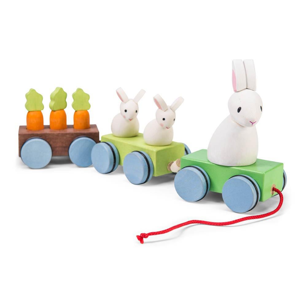 der zug der kaninchenfamilie bunt le toy van spiele und freizeit
