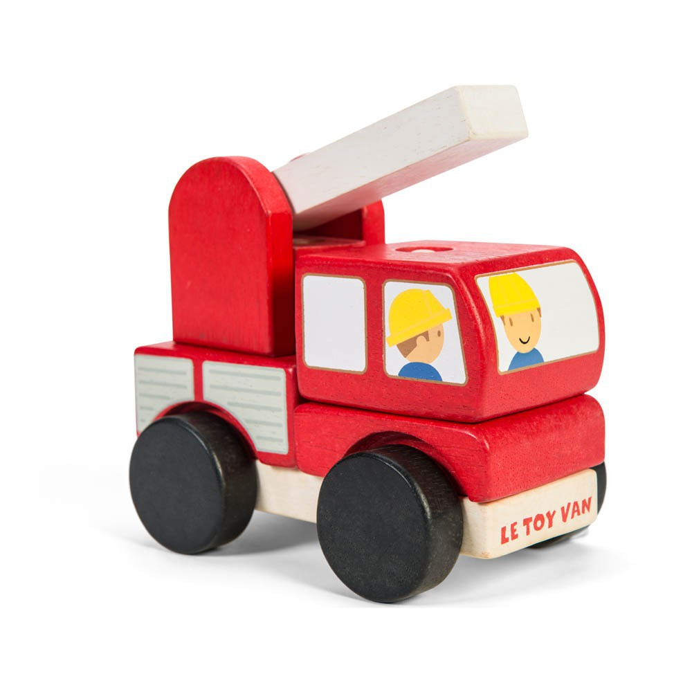 feuerwehrauto stapelbar rot le toy van spiele und freizeit