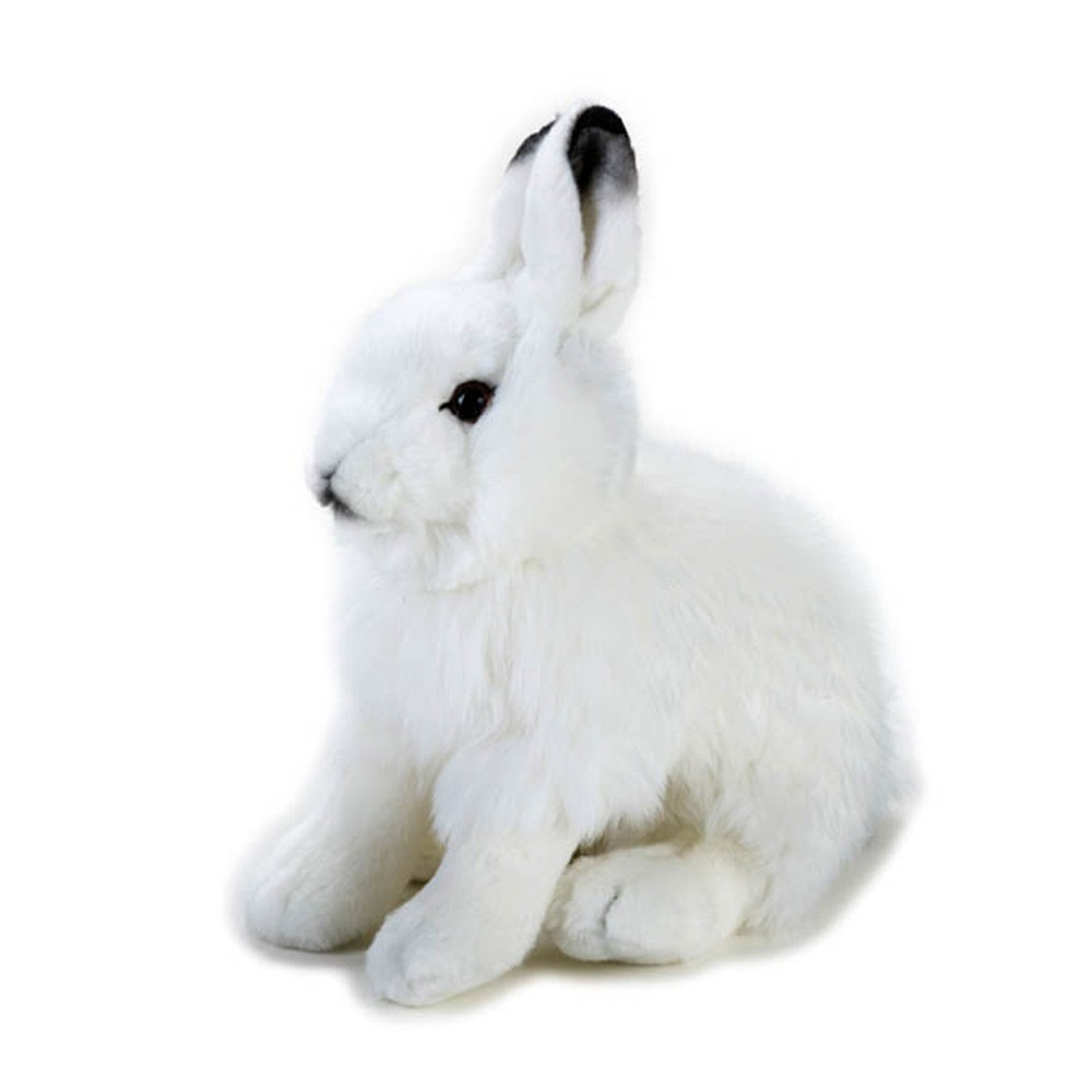 peluche lapin des neiges 25 cm blanc national geographic jouet et. Black Bedroom Furniture Sets. Home Design Ideas