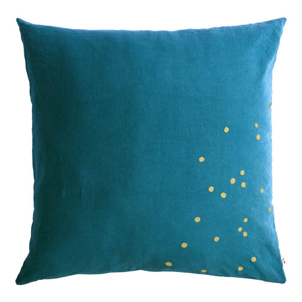 coussin de sol lina pois or bleu canard la cerise sur le. Black Bedroom Furniture Sets. Home Design Ideas