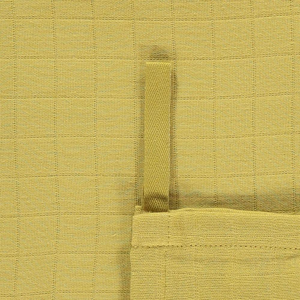 lange plaid 120x120 cm en gaze de coton jaune moutarde moumout. Black Bedroom Furniture Sets. Home Design Ideas