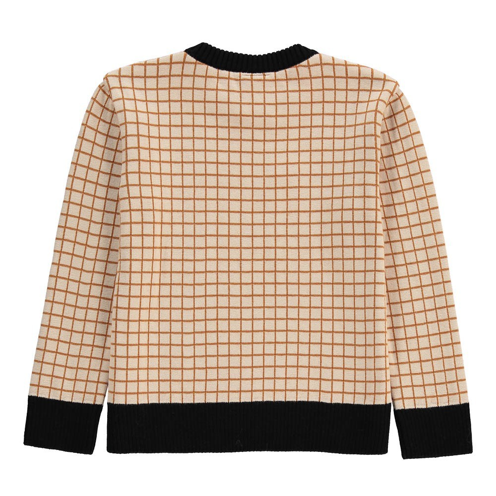 Pull carreaux beige tinycottons mode b b enfant for Pull a carreaux