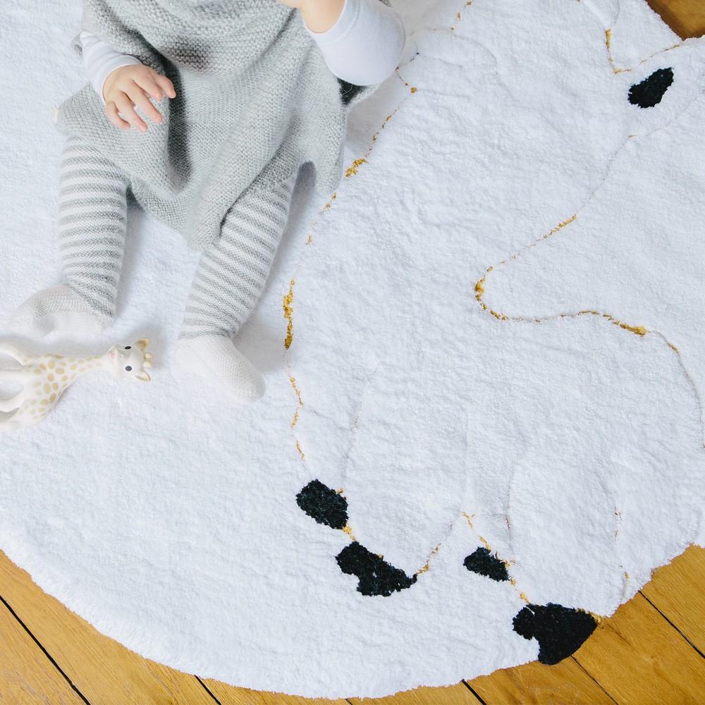 Tapis bébé alpaga 95 cm blanc un tapis à paris x baby alpaga