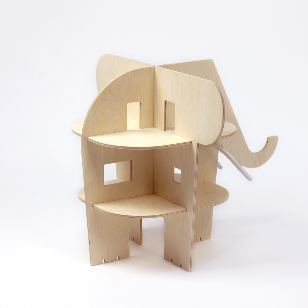 puppenhaus elefant aus holz natur rock and pebble spiele und. Black Bedroom Furniture Sets. Home Design Ideas