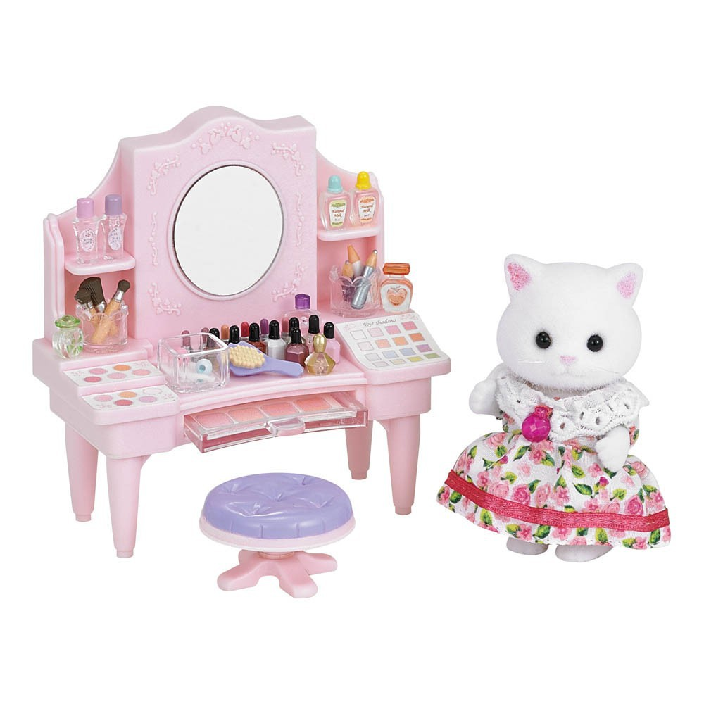 table de maquillage multicolore sylvanian jouet et loisir. Black Bedroom Furniture Sets. Home Design Ideas