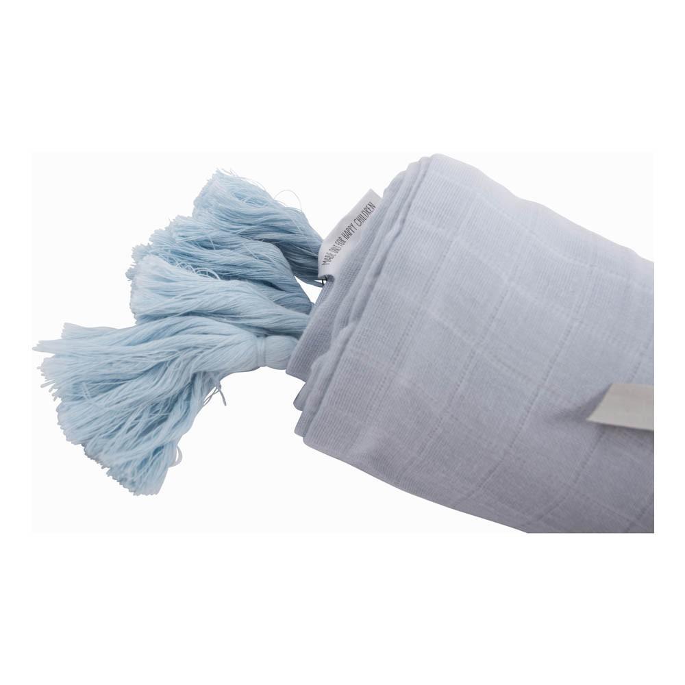 parure de lit en mousseline de coton bleu ciel moumout design. Black Bedroom Furniture Sets. Home Design Ideas