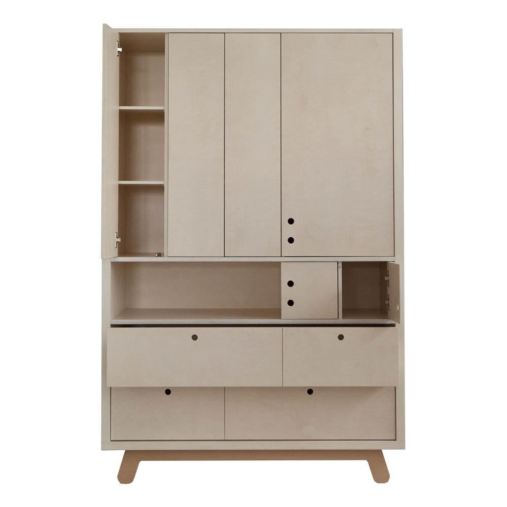armoire peekaboo 120x50 cm naturel kutikai design enfant. Black Bedroom Furniture Sets. Home Design Ideas