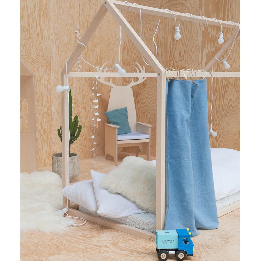 lit cabane dreamer naturel blomkal design enfant. Black Bedroom Furniture Sets. Home Design Ideas