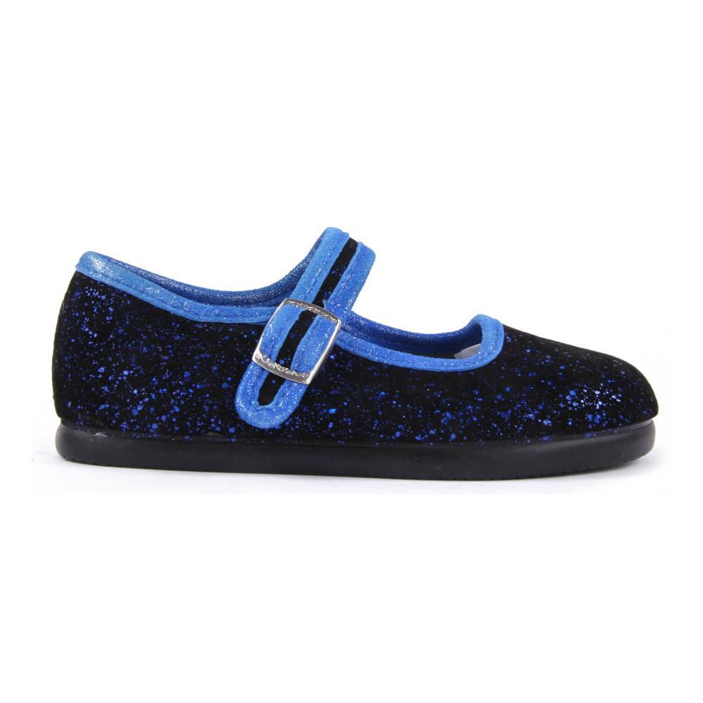 chaussons ballerines paillettes barjols hyden bleu noir pichoto. Black Bedroom Furniture Sets. Home Design Ideas