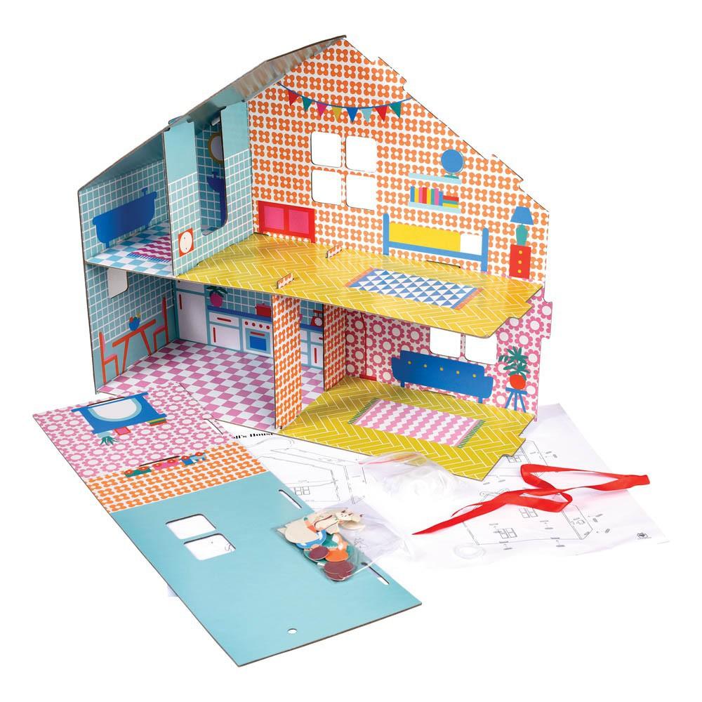 Kit per costruire la casa delle bambole multicolore rex - Costruire la casa ...