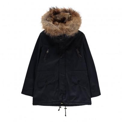 blonde no 8 aspen parka with fur hood listing. Black Bedroom Furniture Sets. Home Design Ideas