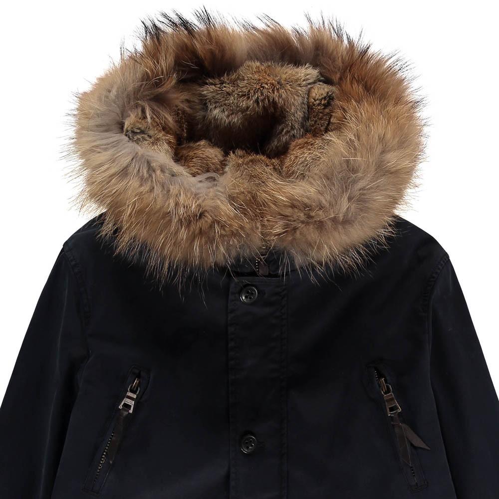 aspen parka with fur hood navy blue blonde no 8 fashion teen. Black Bedroom Furniture Sets. Home Design Ideas