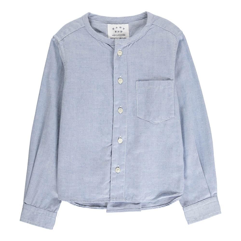 chemise coton sans col bleu p le east end highlanders mode. Black Bedroom Furniture Sets. Home Design Ideas