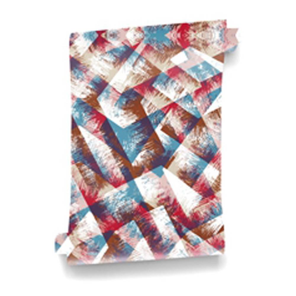 papier peint boh me leather 364x280 cm 4 l s rouge bien fait. Black Bedroom Furniture Sets. Home Design Ideas