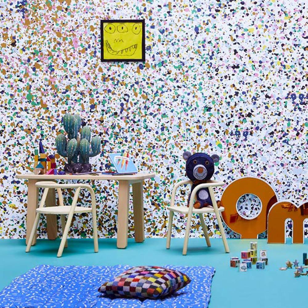 papier peint stardust 364x280 cm 4 l s multicolore bien fait. Black Bedroom Furniture Sets. Home Design Ideas
