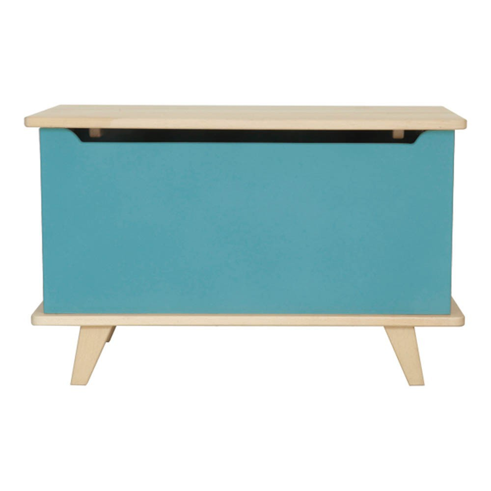 coffre jouets le coffre bleu turquoise laurette design enfant. Black Bedroom Furniture Sets. Home Design Ideas