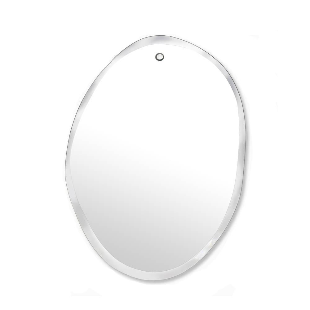 miroir extra plat biseaut forme al atoire ovale verticale. Black Bedroom Furniture Sets. Home Design Ideas