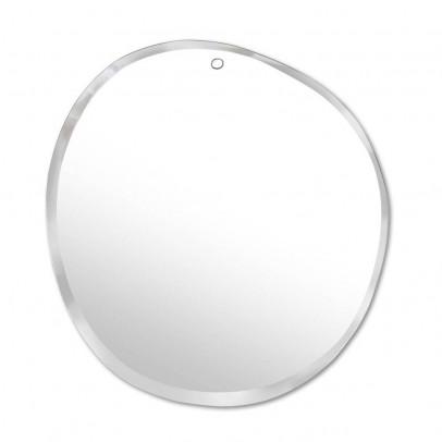 ovaler spiegel aus neusilber 40 30 cm natur smallable home. Black Bedroom Furniture Sets. Home Design Ideas