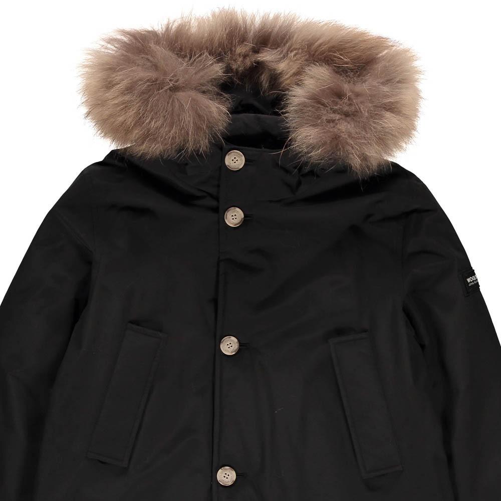 parka capuche fourrure noir woolrich mode adolescent enfant. Black Bedroom Furniture Sets. Home Design Ideas