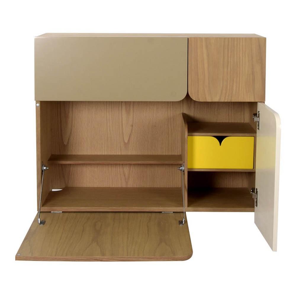 secr taire en ch ne blanc enostudio design enfant. Black Bedroom Furniture Sets. Home Design Ideas