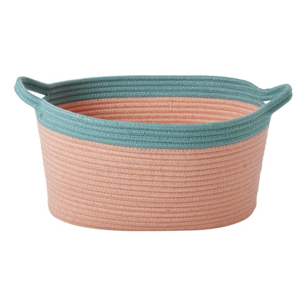 paniers de rangement ovales lot de 2 corail rice design enfant. Black Bedroom Furniture Sets. Home Design Ideas