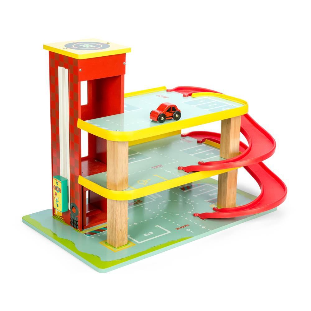 Le garage rouge de dino le toy van jouet et loisir for Le garage des petits
