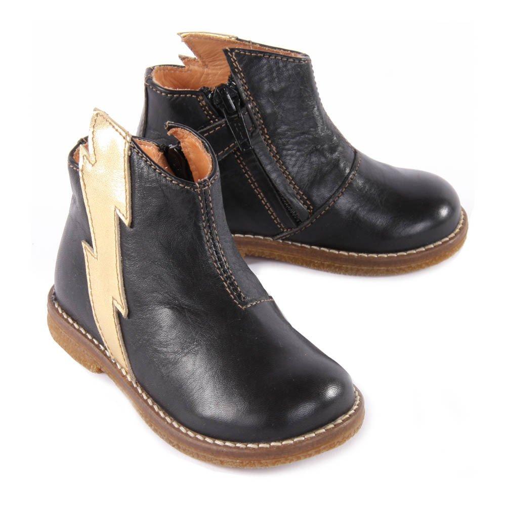 lightning bolt zip up boots black ocra shoes baby children