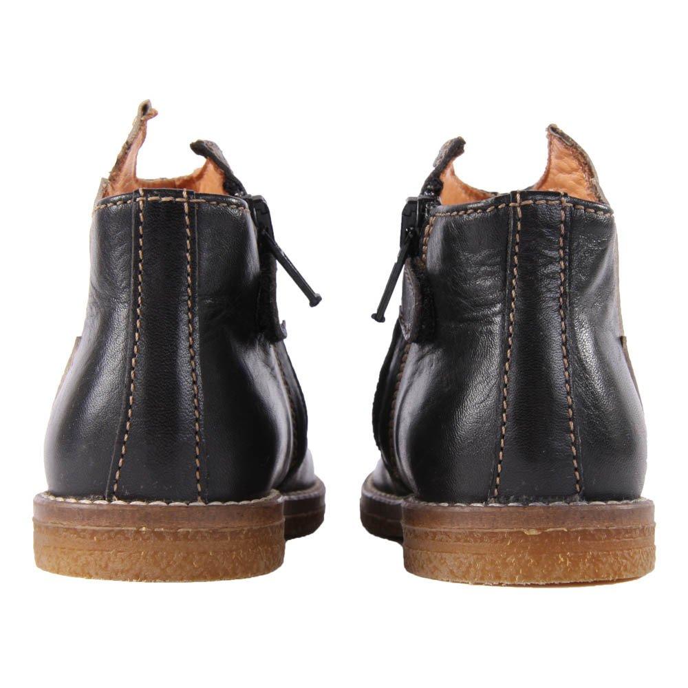 boots cuir eclair zipp es noir ocra chaussure b b enfant. Black Bedroom Furniture Sets. Home Design Ideas