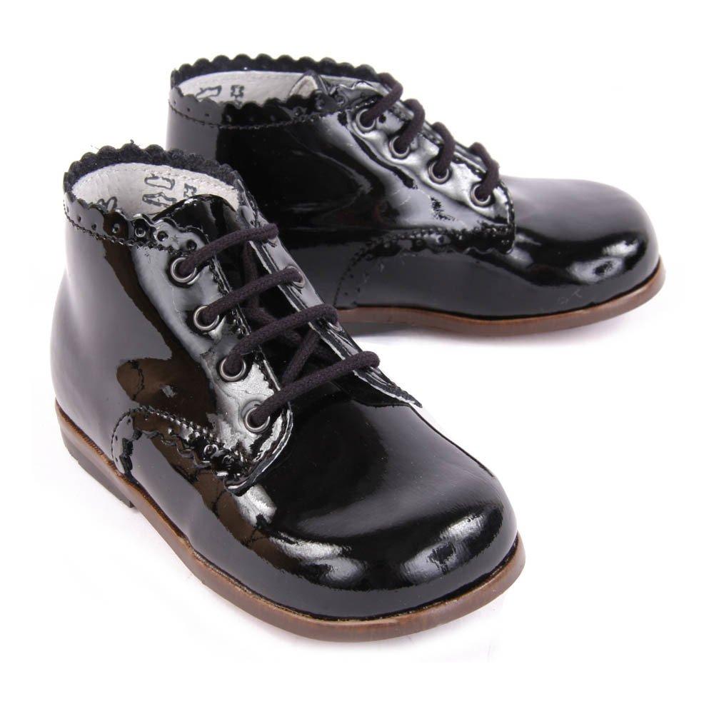 bottines cuir vernis vivaldi noir noir little mary chaussure. Black Bedroom Furniture Sets. Home Design Ideas