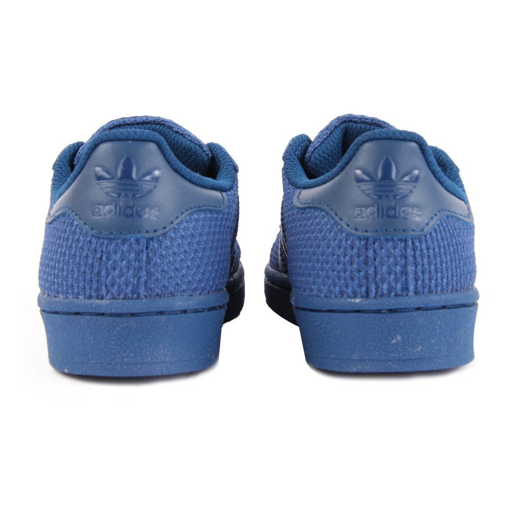 canvas lace superstar trainers navy blue adidas shoes