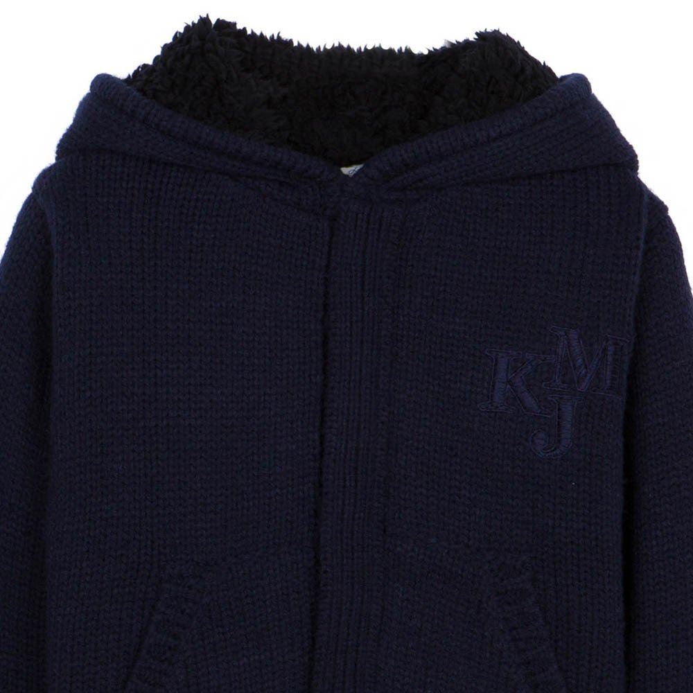 glouglou lined hoodie navy blue little karl marc john fashion. Black Bedroom Furniture Sets. Home Design Ideas