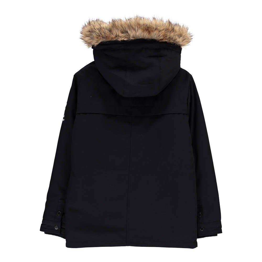 lenou fur hood parka navy blue little karl marc john. Black Bedroom Furniture Sets. Home Design Ideas