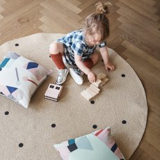 teppich aus baumwolle braid grau liv interior design. Black Bedroom Furniture Sets. Home Design Ideas
