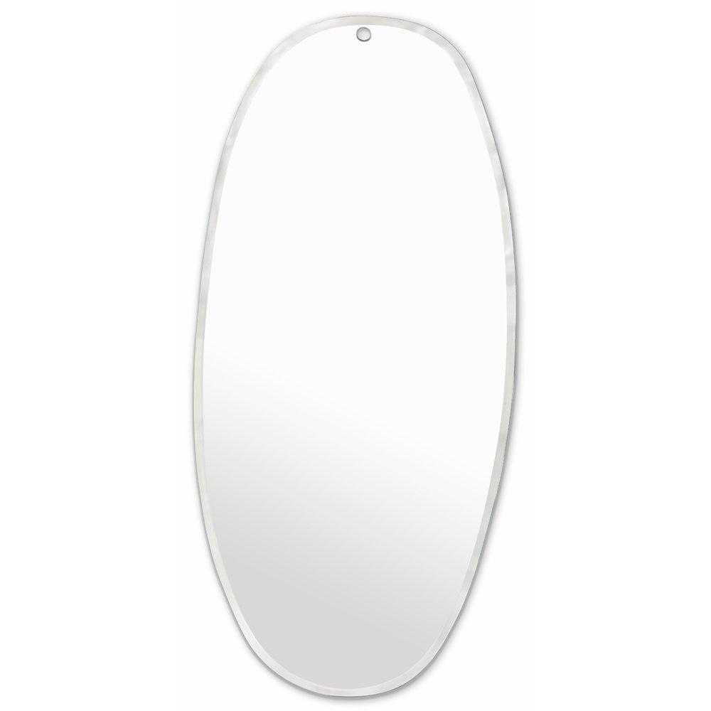 miroir extra plat biseaut forme al atoire ovale 45x95 cm. Black Bedroom Furniture Sets. Home Design Ideas