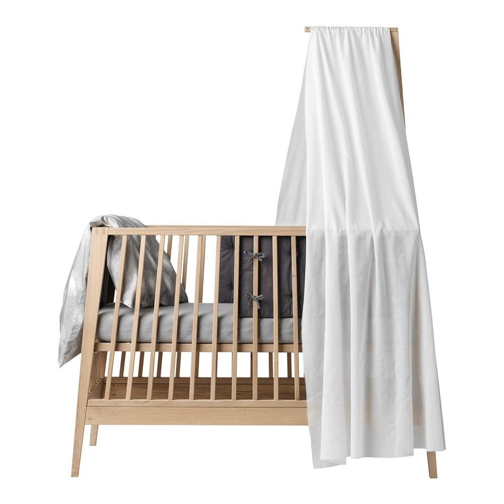 voile de lit b b linea blanc leander design enfant. Black Bedroom Furniture Sets. Home Design Ideas