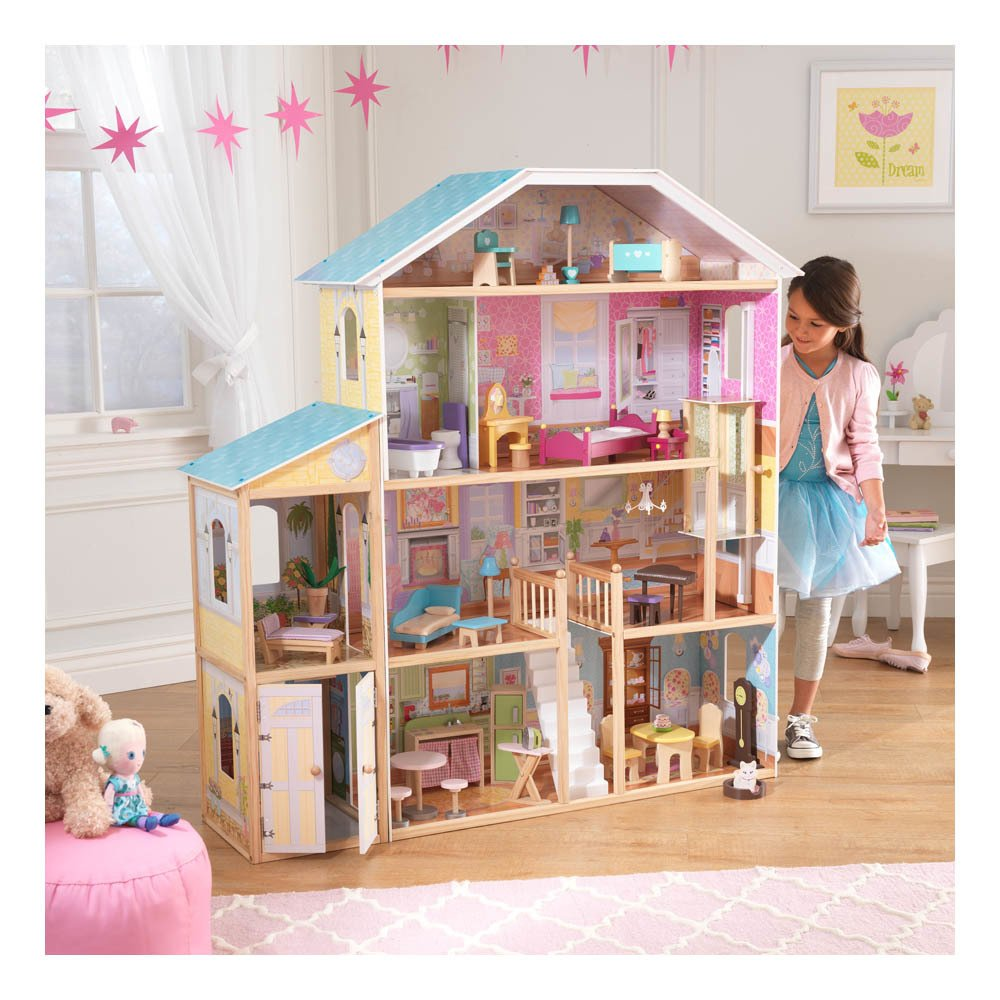 maison de poup e majestic multicolore multicolore kidkraft. Black Bedroom Furniture Sets. Home Design Ideas