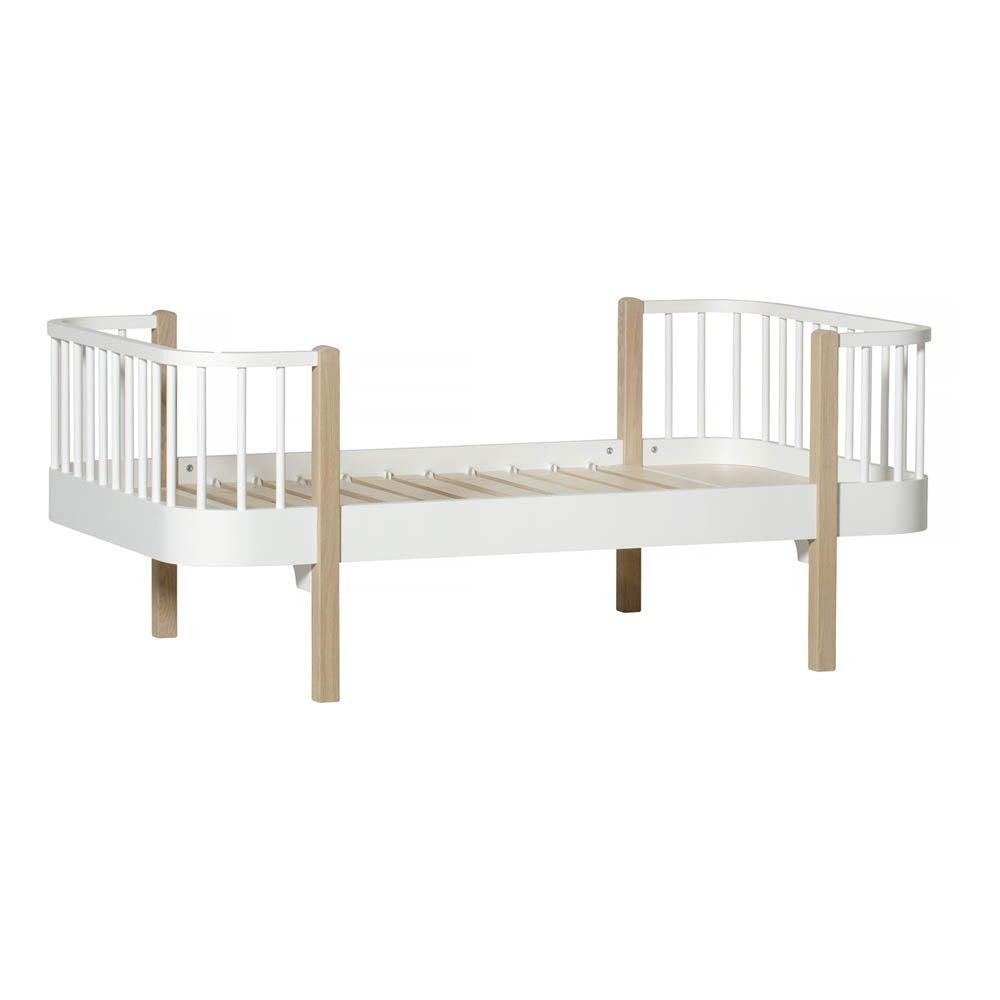 lit junior 90x160 cm en ch ne avec kit volutif naturel oliver. Black Bedroom Furniture Sets. Home Design Ideas