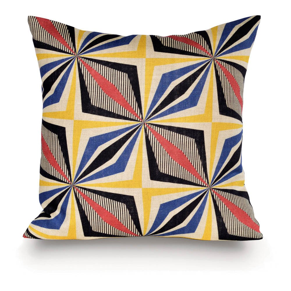 coussin malabo 35x35 cm multicolore rouge du rhin design enfant. Black Bedroom Furniture Sets. Home Design Ideas