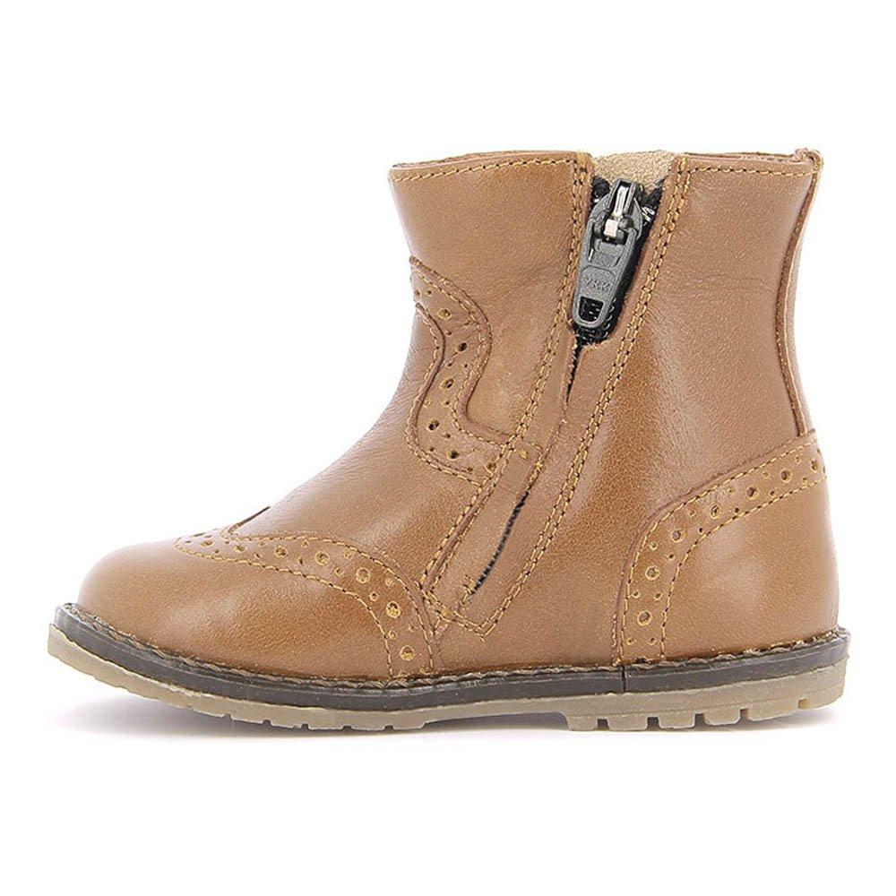 boots cuir zip tictac camel pom d 39 api chaussure b b enfant. Black Bedroom Furniture Sets. Home Design Ideas