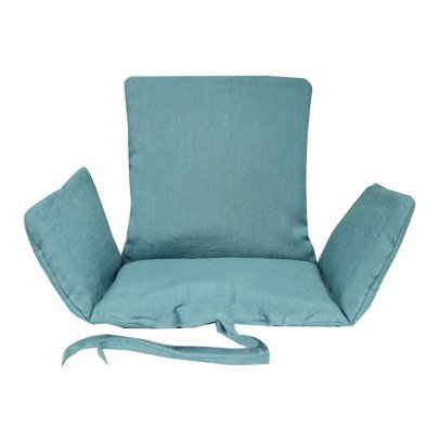 assise en coton pour chaise tibu bleu charlie crane design b b. Black Bedroom Furniture Sets. Home Design Ideas
