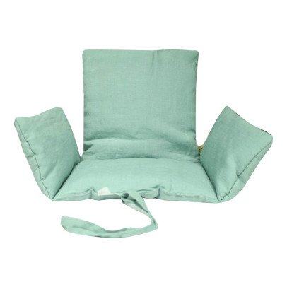 Assise en coton pour chaise tibu bleu charlie crane design for Assise chaise haute