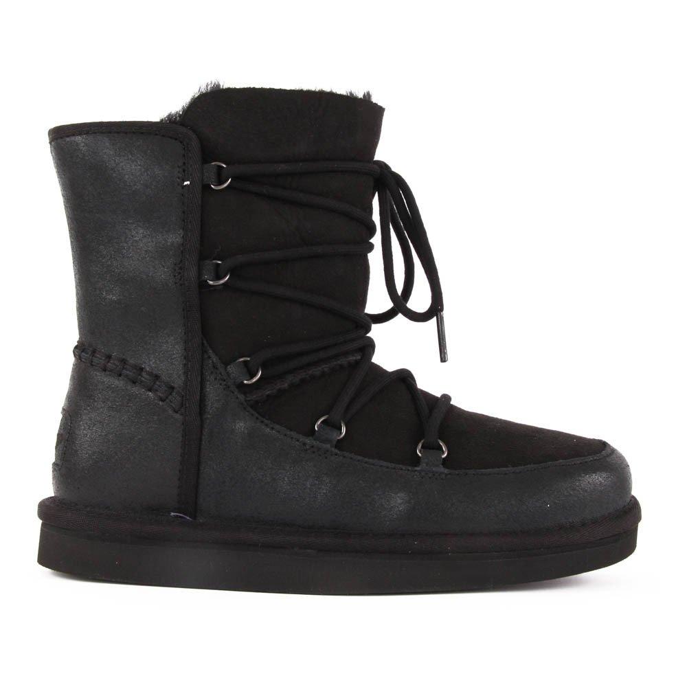 boots lacets cuir eliss noir noir ugg chaussure adolescent. Black Bedroom Furniture Sets. Home Design Ideas