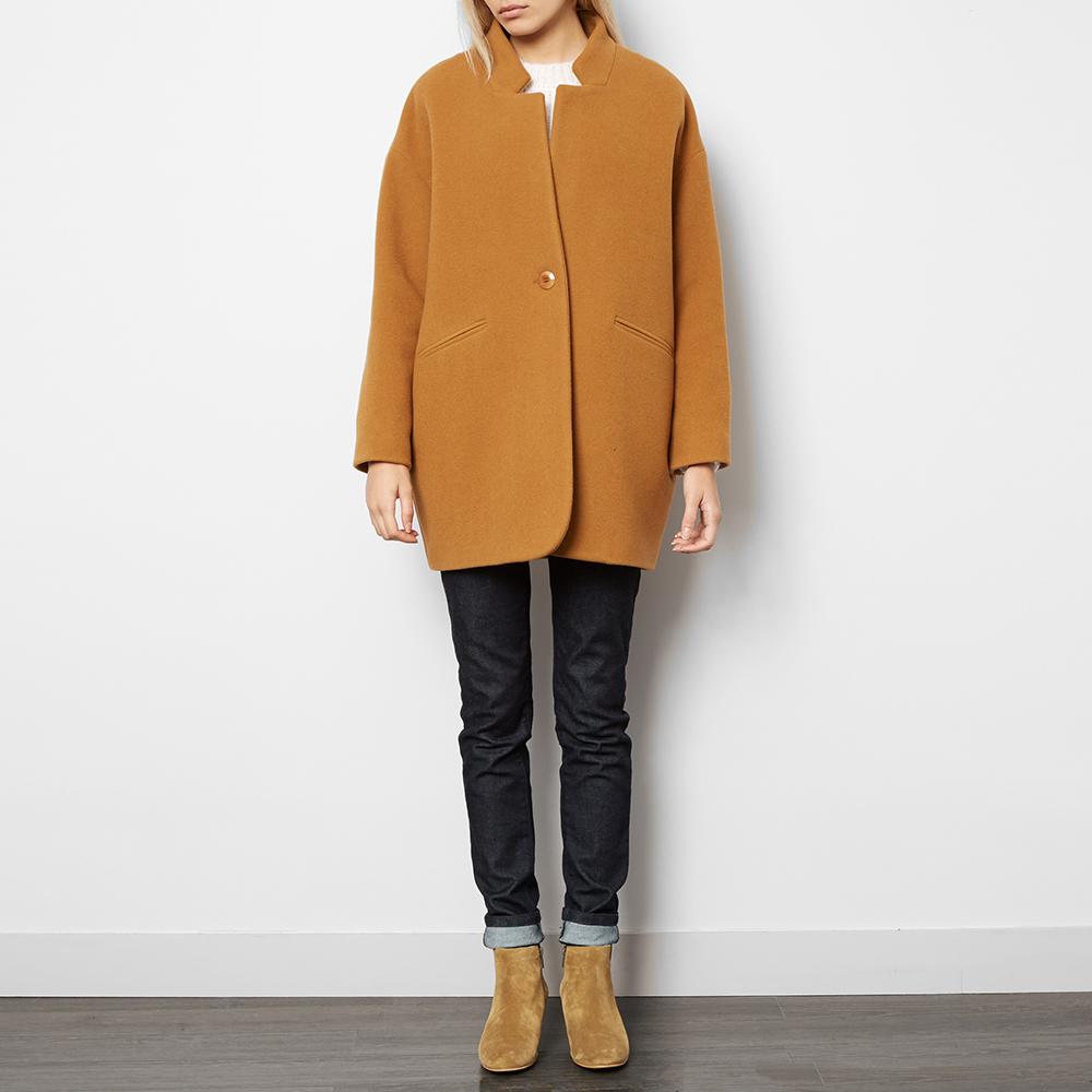 manteau laine et angora pernette camel des petits hauts mode. Black Bedroom Furniture Sets. Home Design Ideas
