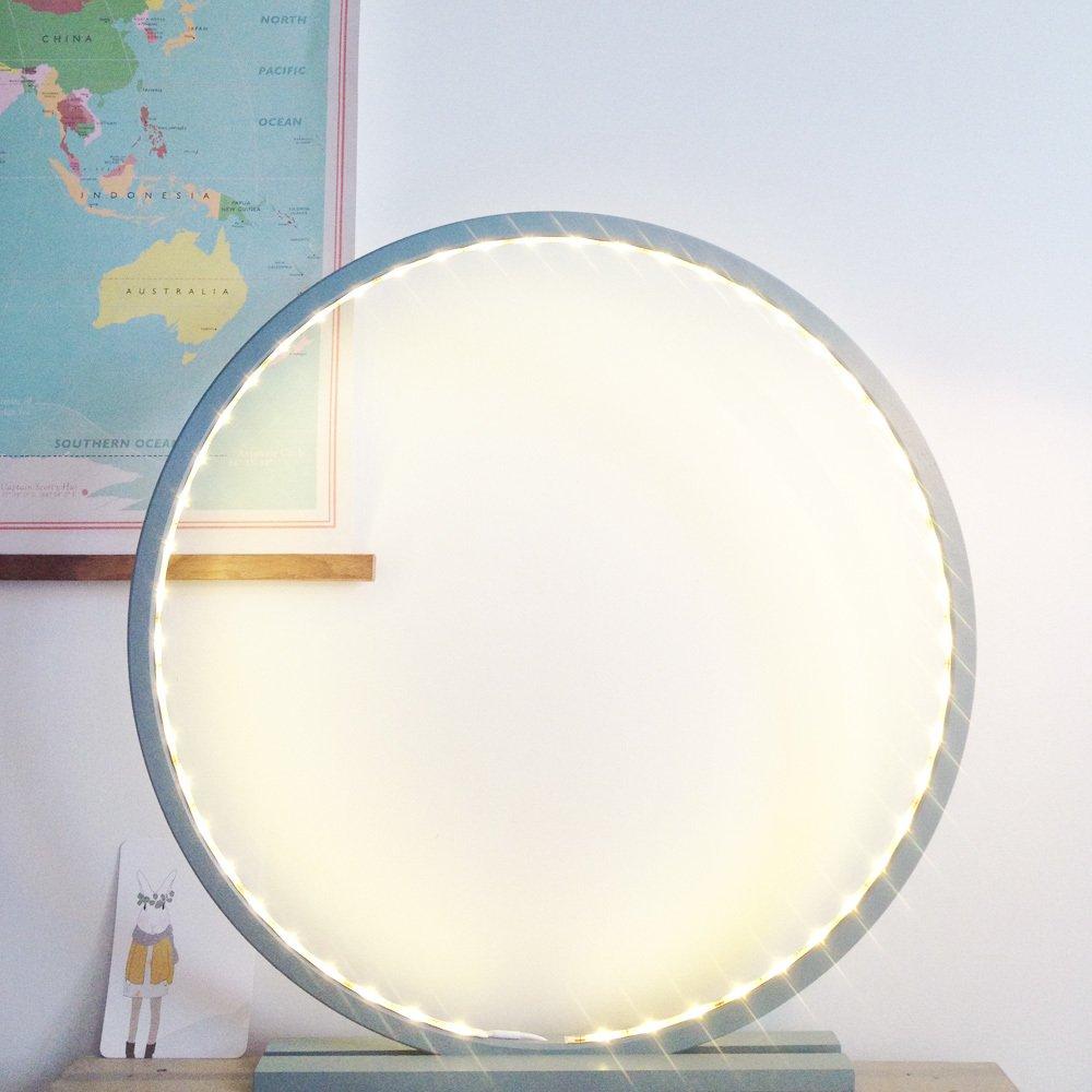 Lampada Legno Grezzo con LED Naturale Comme un rayon de soleil