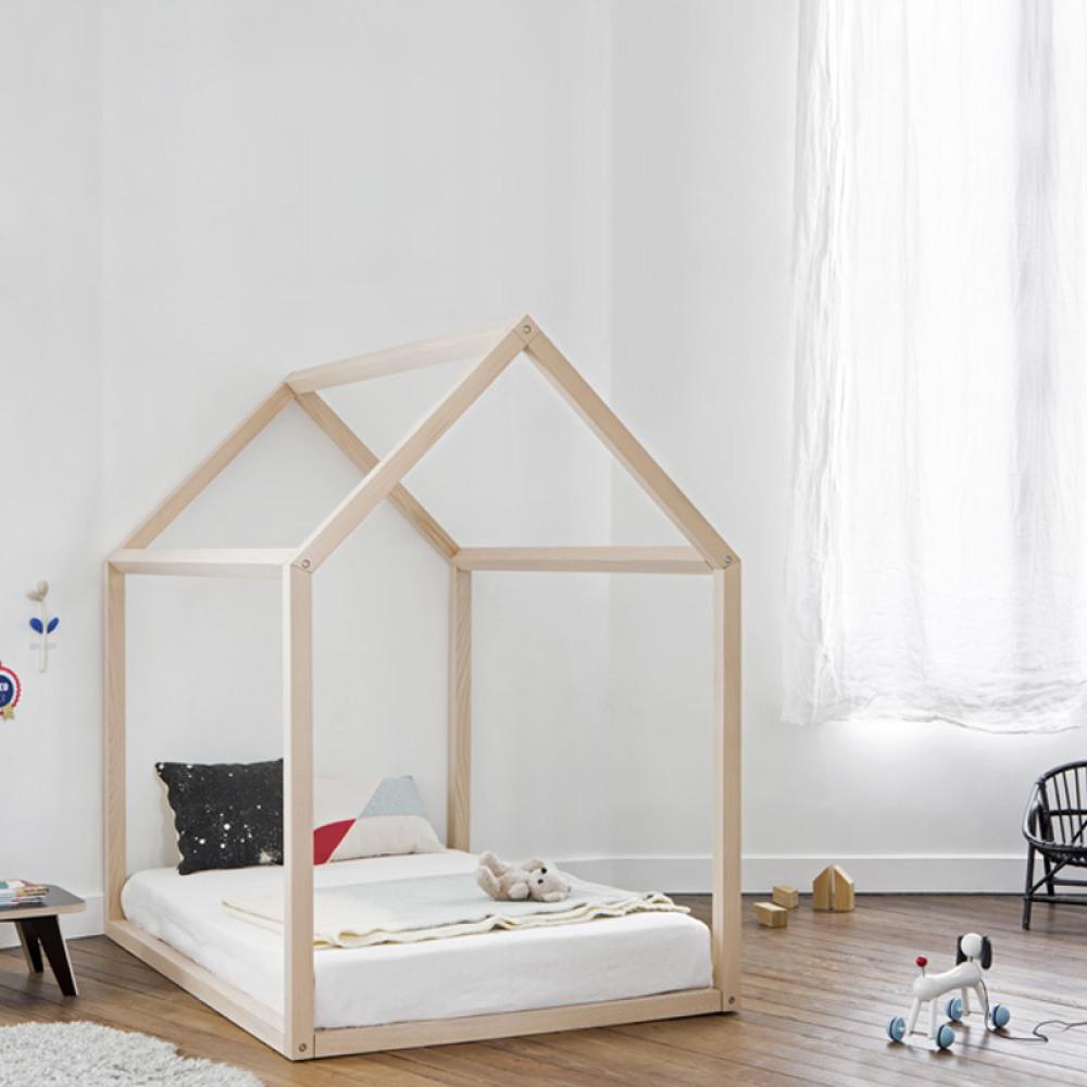 Lit Maison en hêtre Naturel Bonnesoeurs® Design Enfant