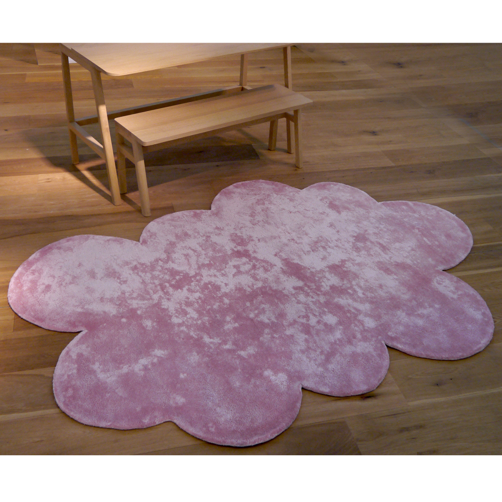 tapis nuage rose pilepoil design enfant. Black Bedroom Furniture Sets. Home Design Ideas