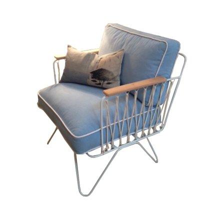 fauteuil croisette blanc coton bleu ciel honor design enfant. Black Bedroom Furniture Sets. Home Design Ideas