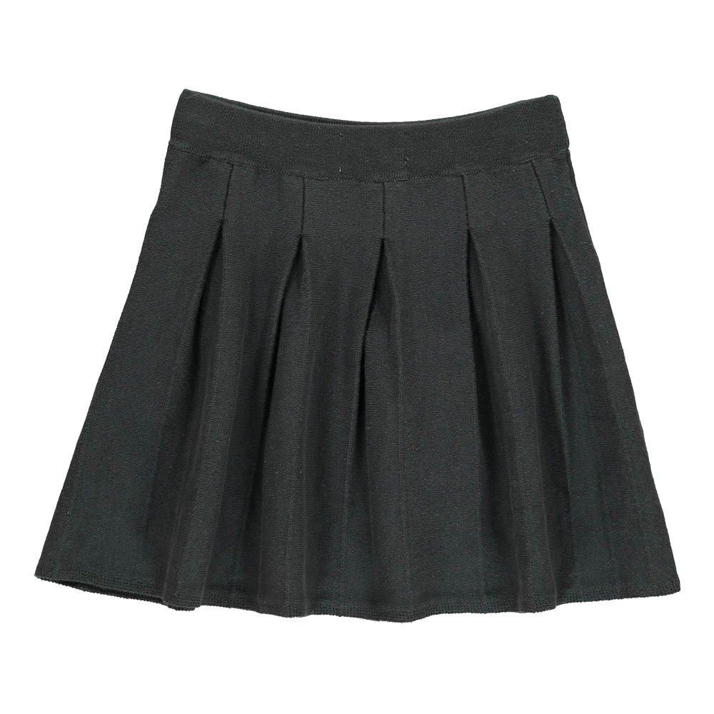 pleated knit skirt black bobo choses fashion children