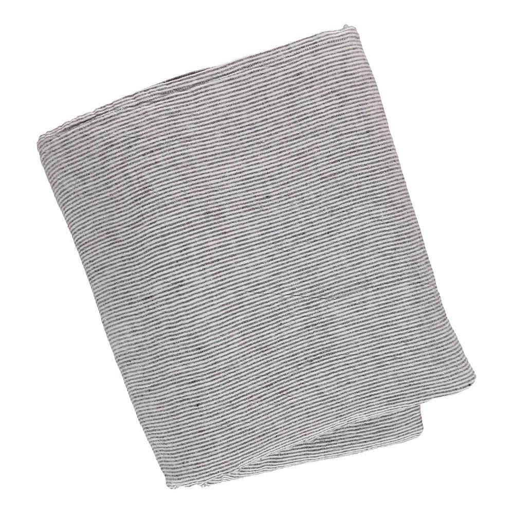 Copriletto lino lavato righe bianche e nere bianco linge - Copriletto lino ...