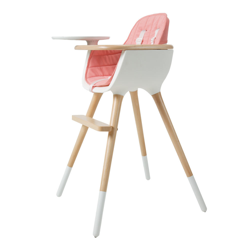 coussin chaise haute ovo rose rose micuna design b b. Black Bedroom Furniture Sets. Home Design Ideas